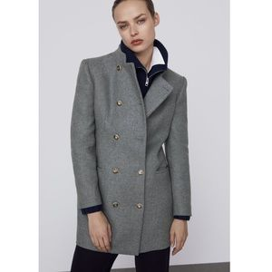 Double Breasted Coat Size S NWT